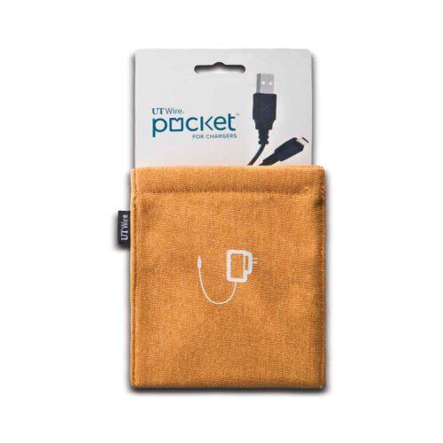 Pocket, etui voor lader oranje