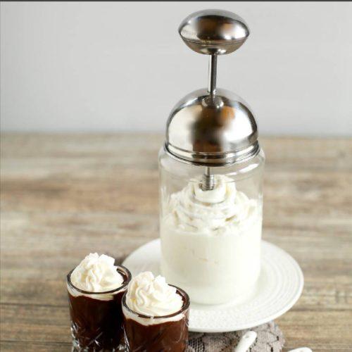 HappyTappi slagroom maker inclusief 500 ml glazen pot