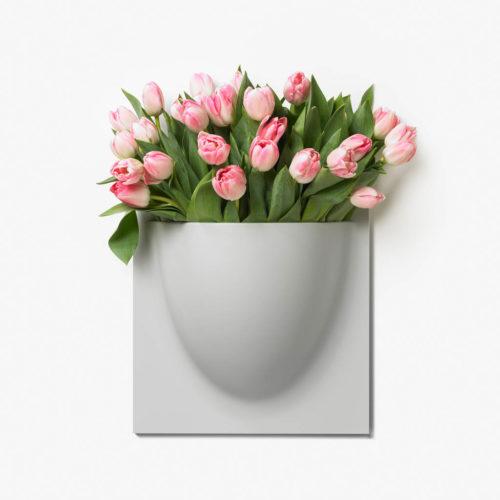 wandpot Vertiplants grijs groot 30 x 30 cm