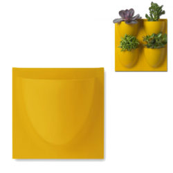 wandpot Vertiplants Mini 15 x 15 cm donkergeel