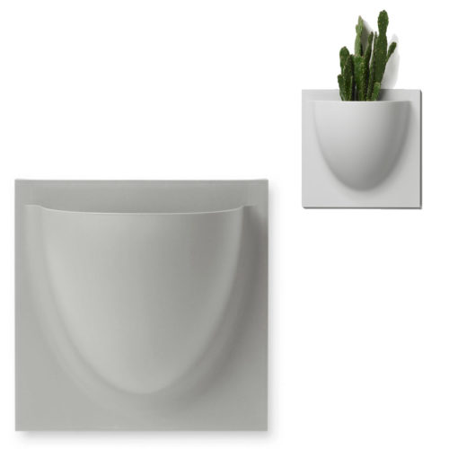 wandpot Vertiplants Mini grijs 15 x 15 cm