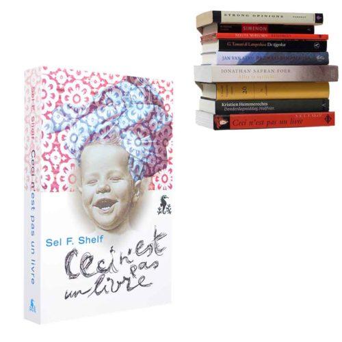 boekenplank Selfshelf baby roze / blauw