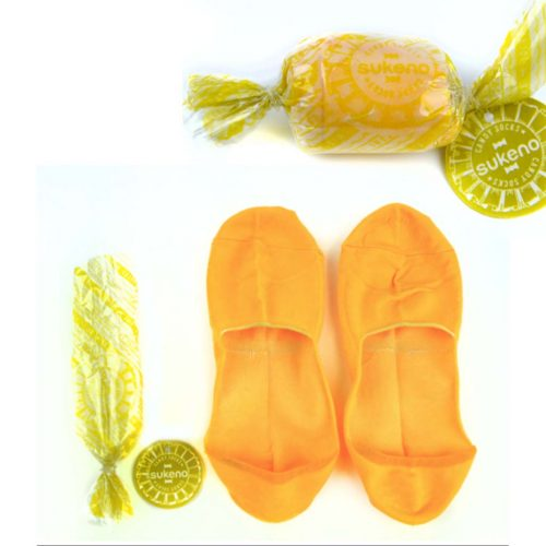 Candy Socks | 1 paar kousenvoetjes geel