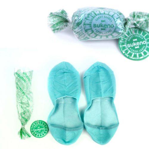 Candy Socks | 1 paar kousenvoetjes/ sokjes licht blauw