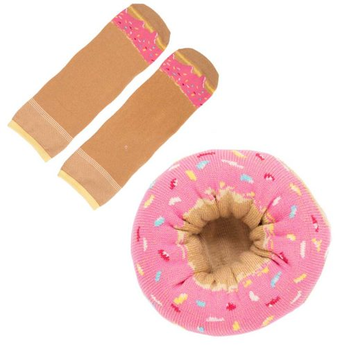 sokken Donut bessen met sprinkles