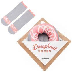 sokken donut aarbei melk swirls