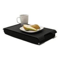Bosign anti-slip mini laptray - dienblad met kussen zwart / zwart