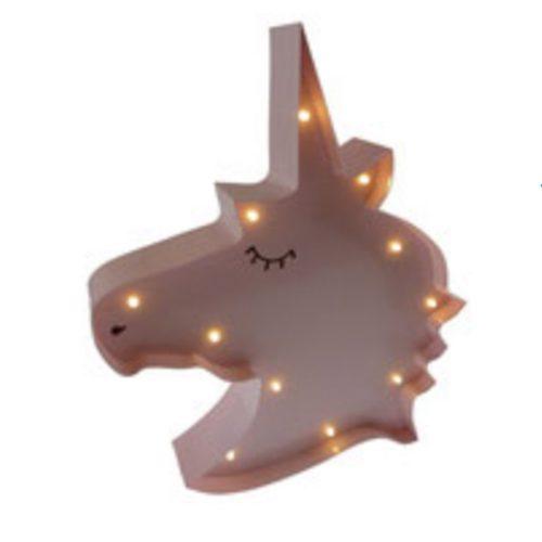 Marquee-light Eenhoorn LED lampje roze