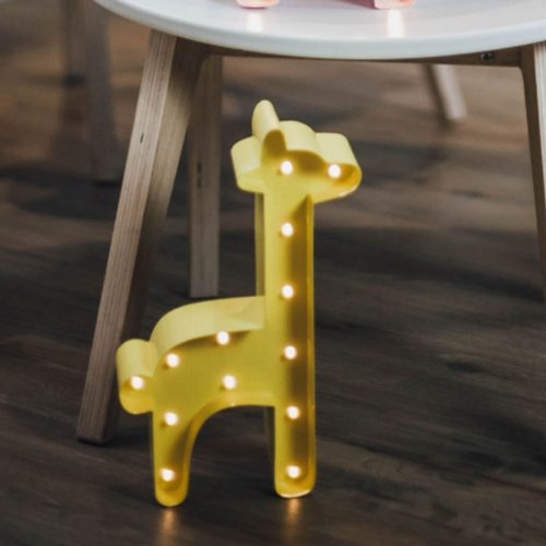 Mini Marquee-lights Giraf LED lampje geel