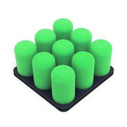 organiseer met Pinnns donkergrijs met groene pins