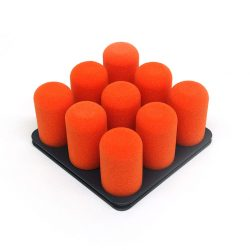 organiseer met Pinnns donkergrijs met oranje pins