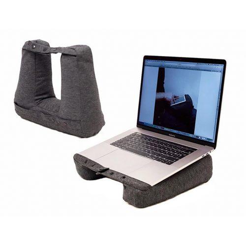 Bosign Travel Pillow KNECK grijs   reiskussen - tablet houder 3 in 1