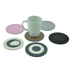onderzetters Mix-It set van 6 stuks | wit, roze, antraciet, grijs, zwart, taupe