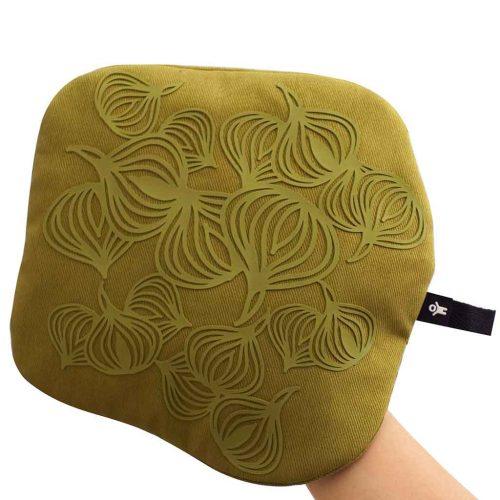 anti-slip pannenlap   Potholder   3-in-1   olijf groen