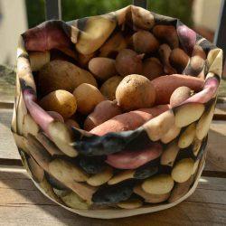 Stoffen Fruitmand - Aardappelen - Maron Bouillie - L 26 x B 20 cm