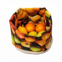 Stoffen Fruitmand - Citrusvruchten - Maron Bouillie - L 26 x B 20 cm