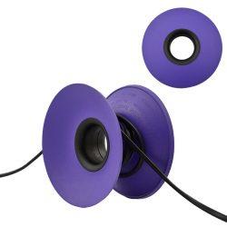 Snoeren oprollen met XL Cable Organizer - Paars / Zwart