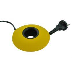 Rol snoeren op met XL Cable Organizer - Geel / Zwart Met de XL Cable Organizer geel/ zwart kun je in een handomdraai overtollige snoeren van o.a. computers, verlichtingsarmaturen, kantoor en huishoudelijke apparatuur makkelijk wegwerken. Wikkel de snoeren tot de gewenste lengte om de kern van de XL Cable Organizer en klap deze vervolgens weer dicht. Zo zijn je snoerensneluit het zicht! Materiaal:kunststof Formaat:∅ 12 cm x h 3,8 cm Kleur:geel, zwart Design: Cleverline LET OP! Max. 1000 Watt en 230 Volt /max. 5 meter